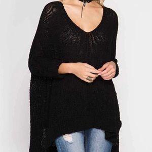 She & Sky Hi-Low 3/4 Sleeve Sweater One Size